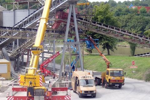 Stützfußreparatur bei Betonwerk Krieger in Neckarrems.